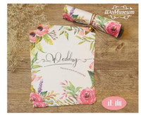 Invitations & Invitation Buckles beautiful service - 2016 Green Color Beautiful Wedding Invitations Printing Pattern Floral Print Personal Service Customized Service Style for Choose