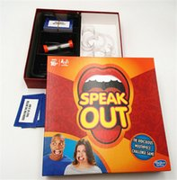 Wholesale 2016 HOT selling Speak Out Game KTV party game cards for party Christmas gift newest best selling toy Board Mouthpiece Party Game