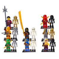 Wholesale SY282 Building Block Super Heroes Ninja Minifigures Ninja Skeletons hunder Sworosman Kai Jay Cole Mini Figures Toys