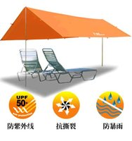 Wholesale Multifunctional free combination Large outdoor awning canopy bask arbor shade ultra light awning tent camping tent cm