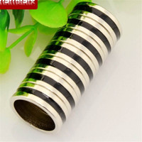 Wholesale PK Ring Dual Black Line Strong Magnetic Ring Magic Props Magic Tricks Size mm