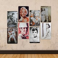 Wholesale 20 cm Retro Metal painting movie Poster bar coffee shop decoration Household decorative vintage Metal painting tin style DHL C904