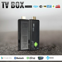 Wholesale MK809 IV Android TV Stick Dongle RK3128 Quad Core G G Full HD Mini PC Kodi XBMC Miracast DLNA H WiFi TV Dongle Airplay