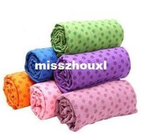 Wholesale DHL Health Care Skidless Yoga Towel Yoga Mat Non slip Yoga Mats for Fitness Yoga Blanket Mixed Colors
