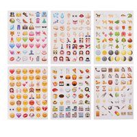 Wholesale Free DHL whole sale Emoji Emoticons Paper Stickers tiny Popular Diary Scrapbooking DIY Home Decor