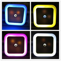 auto lite - GT Lite Newest LED Night Light With Control Auto Sensor Light For Home Indoor Art Lighting In White Yellow Blue Red AC220V EU US