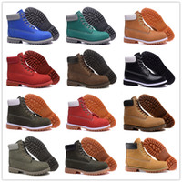 army safety boots - 2016 Hot Sale All Color Classic Boots Women Men s for Top quality Wheat Authentic Leather Fashion Outdoor Waterproof Work Shoe