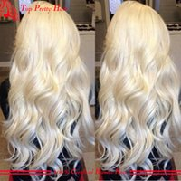 big afro - 100 Virgin Hair Platinum Blonde Lace Front Wig Human Hair Body Wave Glueless Peruvian Full Lace Wigs For White Women Free Parting
