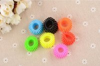 Wholesale Telephone Wire Line Cord Invisi Traceless Hair Ring Gum Colored Elastic Hair Band For Girl Hair Scrunchy hair accessories accesorios