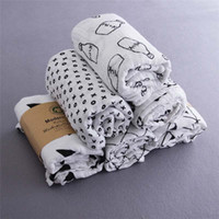 Wholesale Modern burlap cm Organic Cotton Muslin Swaddle Blanket hot sales Baby gauze towel Fast shipping