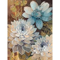 antique silver paint - HWC D Diy Diamond Painting home decor square drill Mosaic Embroidery wallpaper poster Silver Flower X40CM