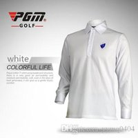 Wholesale 2016 NEW High Quality Fashion Men Golf long sleeve Shirt Golf Sports Casual Turn down Collar Breathable Golf Wear Quick Dry Golf T Shirts