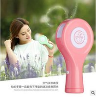 best spray conditioner - 2in1 Portable USB Charging Conditioner Power Bank Mini Humidifier Fan Spray Fan Summer Cooler Laptop Computer Fan USB Atomizer Best Gifts