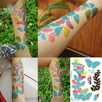 Wholesale WSST019 gold stamp Metallic Body Art environmental protection hot metal fashion personality gilt silver tattoo stickers