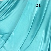 baby blue curtains - 1 M unit Tiffany Blue Pearlizing Ice Silk Curtain Wedding Birthday Party Baby Shower Decoration Satin Fabric