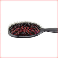 barber combs - Mason Hair Brush with Massage Paddle Comb Boar Bristles Mix Nylon Hair Comb Brush Barber Brush Hair Extension Brush
