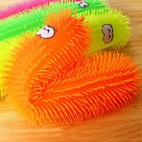 Wholesale 2016 new Colorful Toys Gift Caterpillar Shape With Flashing Light TPR Material Touchness Elastic Finger