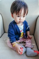 Wholesale 2016 New arrival Kids sweaters single breasted V neck striped cardigan Boys Autumn cotton color clothes children clothing