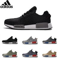 Cheap Adidas Originals NMD Runner Yeezy 350 Boost Running Shoes For Women Men Yeezys Sneakers Originals Cheap Gold Black Size 36-45 Free Shipping