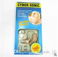 Wholesale CYBER SONIC Invisible Sound Amplifier Ear Aid Adjustable Hearing Aids In Sound Amplifier Ear Plug Sound Enhancement Deaf Aid CCC1287