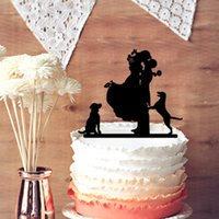 bichon grooming - Romantic Wedding Anniversary Cake Toppers Bride and Groom with Bichon Frice Silhouette for Rustic Wedding Supplies