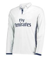 asymmetric shirt - Thai quality tracksuits long sleeve jerseys home shirts Real Madrid man soccer jerseys fashion football shirts suit