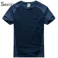 Wholesale Quick Dry Coolmax Brand Hiking T shirt Men Summer New Breathable Plus Size Hiking Sports T Shirt Male UV Protection Tshirt
