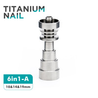 Wholesale Domeless Titanium Nail mm mm mm Male Femal Joint Domeless Nail GR2 for Oil Rigs Water Pipes and Glass Bongs
