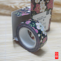Wholesale Pick up the light and paper tape color violet DIY ornament mm beautiful floral paper tape