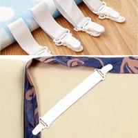 bedspread sets wholesalers - 4pcs set Bedding Bedspread Bed Sheets Buckle Table Cloth Fitted Device Bed Sheets Clip Slip resistant Belt Elastic Set Grippers