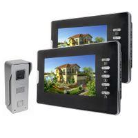 Wholesale 7 quot Color Video Door Phone Doorbell Video Intercom Kit IR Night Vision Camera Video Intercom Monitor for Home Security F4357A