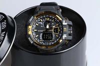 al por mayor bueno para los deportes-Relojes de los deportes de los hombres del relogio de la caja de GA1100 + G, reloj del cronógrafo del LED, reloj militar, reloj digital, buen regalo para el muchacho de los hombres, dropship