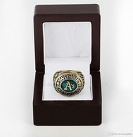 athletic championships - 1974 Major League Baseball Oakland Athletic D design High quality Replica Championship ring WITH WOOD BOX STR0