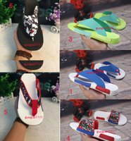 Wholesale 2016 New Design NMD fashion slippers Outdoor sandals Beach shoes Men and women leisure a flip flops summer slippers lover shoes