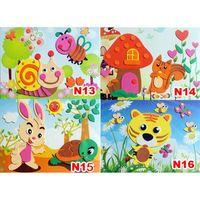 Wholesale New DIY Handmade D Foam Eva Craft Child Kid Puzzle Sticker Self Adhesive Learing Education Toys