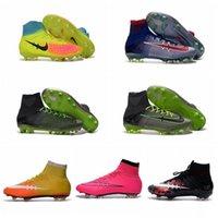Wholesale Kids Soccer Shoes CR7 Youth Soccer Cleats Men Soccer Boots Children Magista Orden II Women Girls Mercurial Superfly Boys Football Boots