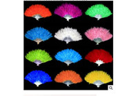 Wholesale Feather fan belly dance dancing props accessories feather fan veils turkey fans stage costume wear for performance EMS