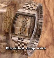 al por mayor reloj automático del puente-Super Clone Reloj Barato Golden Bridge 313.165.59 / V100 GL10G Gent Reloj Automático Manual De Enrollamiento Bisel De Acero Inoxidable Y Correa Relojes Para Hombres