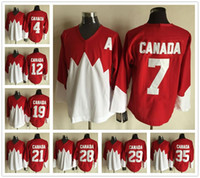 Cheap 1982 Team Canada Ice Jersey CCM Vintage OLYMPIC 4 7 12 19 Red