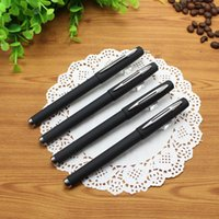 Wholesale 100pc Plasic Black Ink mm Gel Pen for Gift Customized Logo Gel Ink Pen with Logo Printing Office and School Stationery