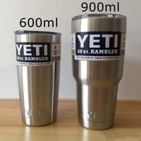 Wholesale 2016 Hot Sale oz oz YETI Rambler Tumbler Cups Cars Beer Mug Large Capacity Mug Stainless Steel Insulation yeti Cup