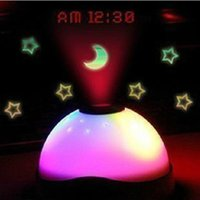 Wholesale Digital LCD Alarm Clock Projector Projection Light Lamp Home Party Xmas Decor
