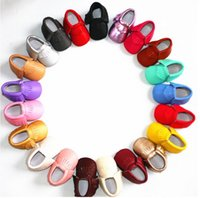 Wholesale HOT Baby Shoes Baby moccasins first walker shoes Tassels baby shoes Soft soled shoes Soled sandals Kids sandals Fringe boy shoes PLL