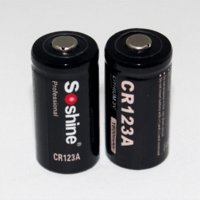 alkaline battery holder - 2 Pair Original Soshine V CR123A Rechargeable Li ion Battery mAh RCR123A Battery with battery holder case