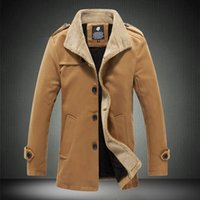 Wholesale Fall winter jackets for men High quality large size wool coat stylish Men s thick jacket coat size m xl G5181