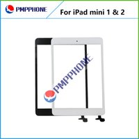 Bon Marché Des parties en verre-La meilleure qualité pour iPad mini-écran mini-2 écran tactile pièce de rechange tactile Digitizer Assemblée Façade en verre Lentille Blanc Noir DHL