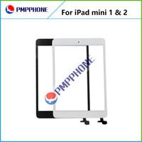 La mejor calidad para el iPad mini mini 2 Pantalla táctil digitalizador Asamblea de cristal de la lente frontal de la pantalla táctil pieza de recambio Blanco Negro DHL
