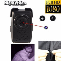 audio video lighting - 6 Night Vision Light P HD SPY DVR Hidden Mini Button Camera Audio Video Recorder Nanny Cam Security Camera