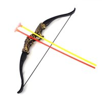 bow and arrow gun - 2016 new Outdoor Shooting Sports Toy Bow and arrow Toy Set Plastic toys for Children Kids outdoor toys