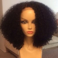 Wholesale Short synthetic lace front wig glueless kanekalon heat resistant Afro kinky curly synthetic wigs with baby hair for black women